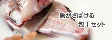 魚をさばいて刺身にするセット