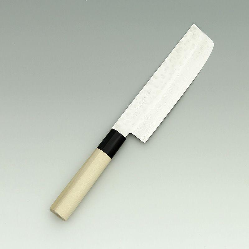 [菜切包丁] SW割込ダマスカス 菜切 160mm