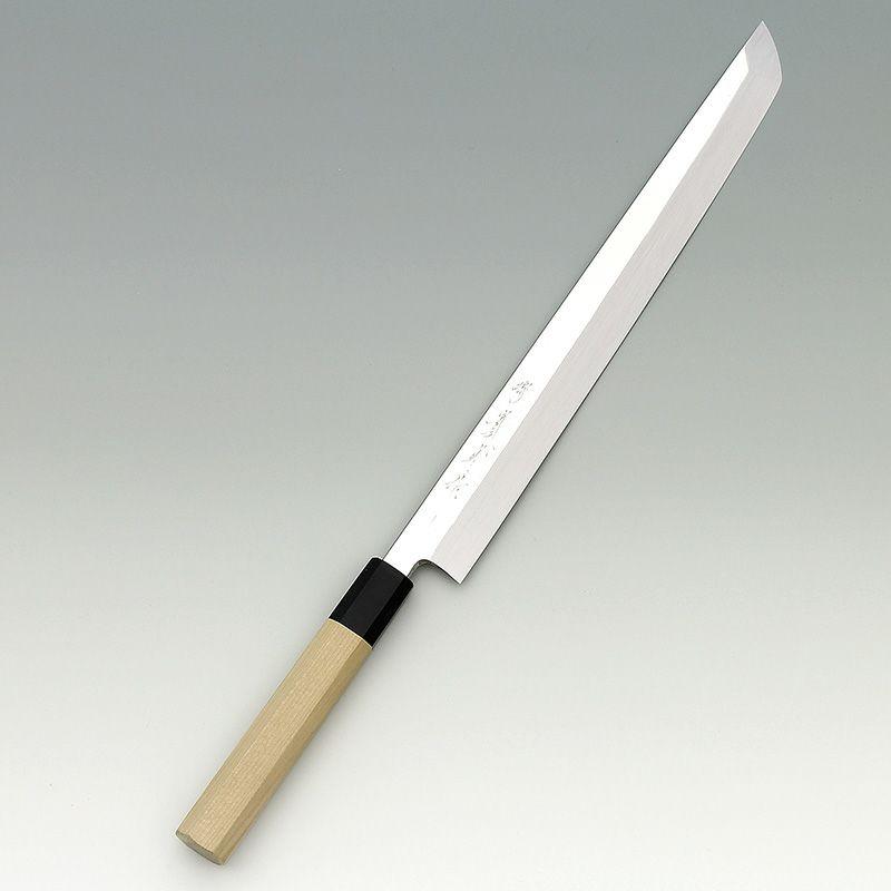 [刺身 先丸包丁] 本焼青 鏡面 刺身先丸 360mm