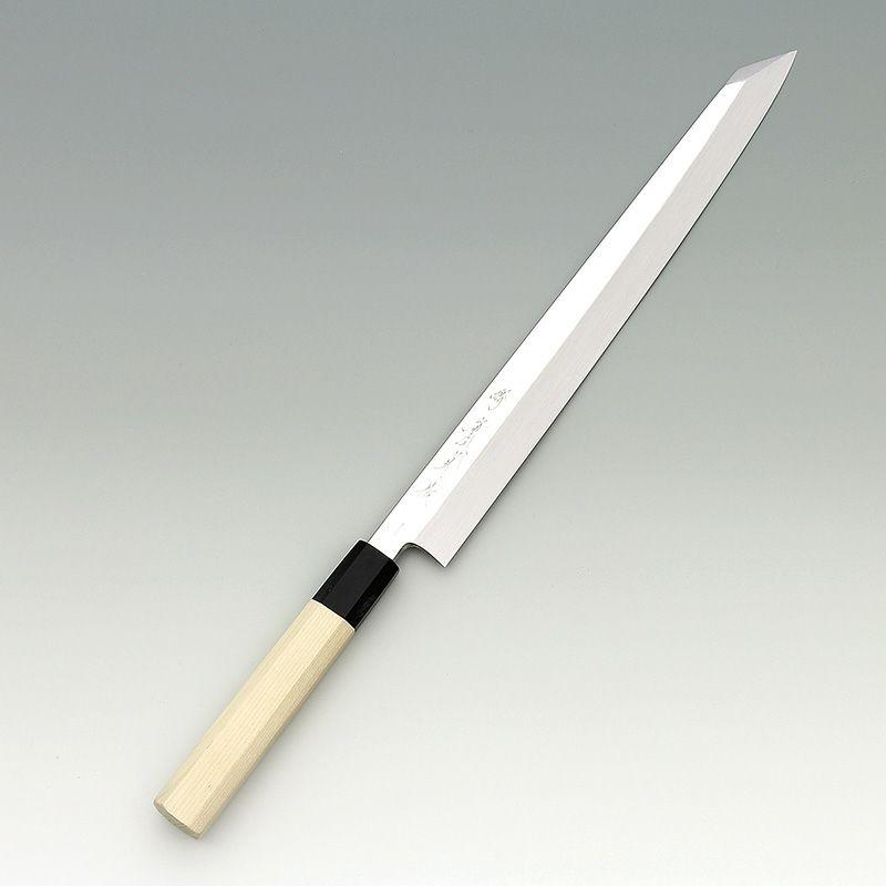 [刺身 切付包丁] 本焼青 鏡面 刺身切付 360mm