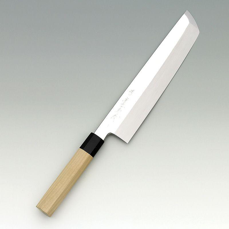 [骨切包丁] 本焼青 鏡面 骨切 240mm