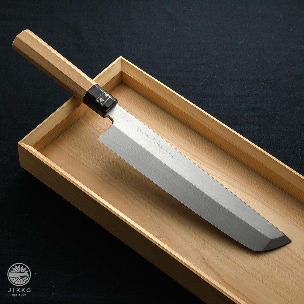 [骨切包丁] 本焼白 骨切 300mm