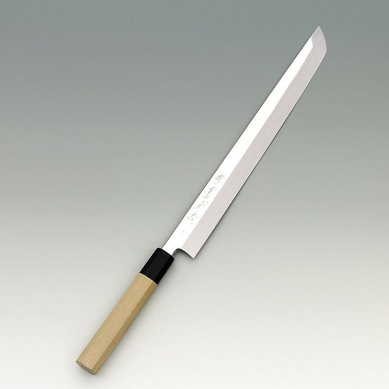 [刺身 先丸包丁] 本焼銀三 鏡面 刺身先丸 240mm