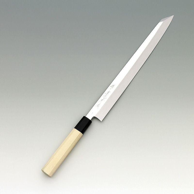 [刺身 切付包丁] 本焼銀三 鏡面 刺身切付 330mm