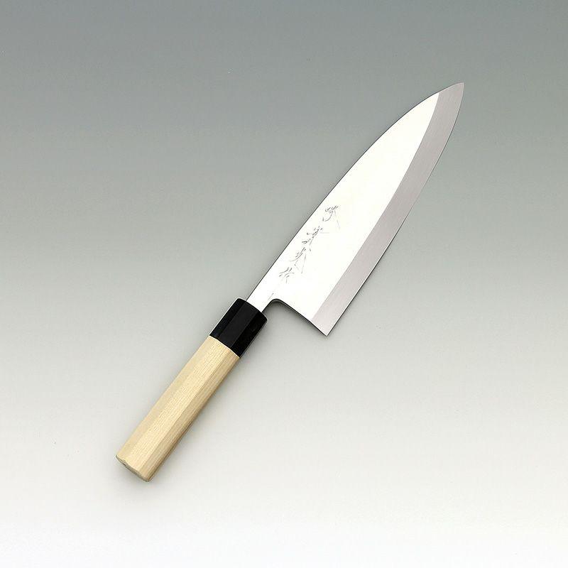 [出刃包丁] 本焼銀三 鏡面 出刃 195mm
